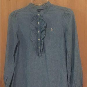 Girls Ralph Lauren Jean Shirt Dress Size- 14